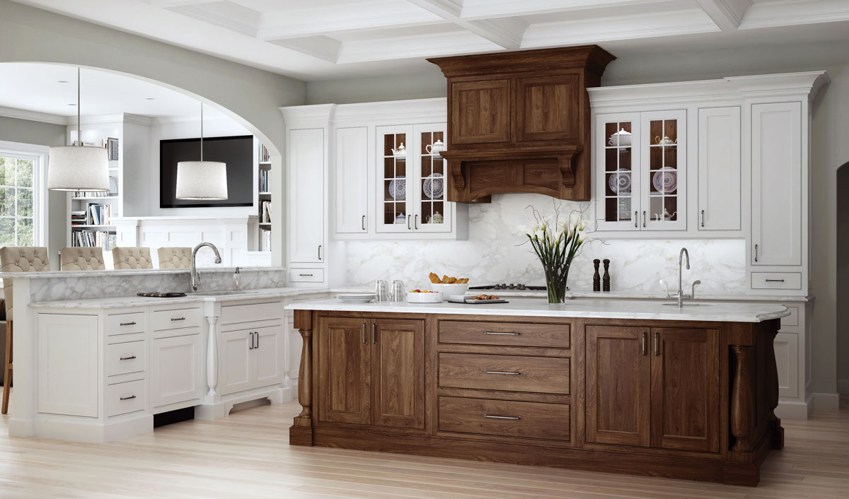 Woodland and Walnut Kitchen Cabinets